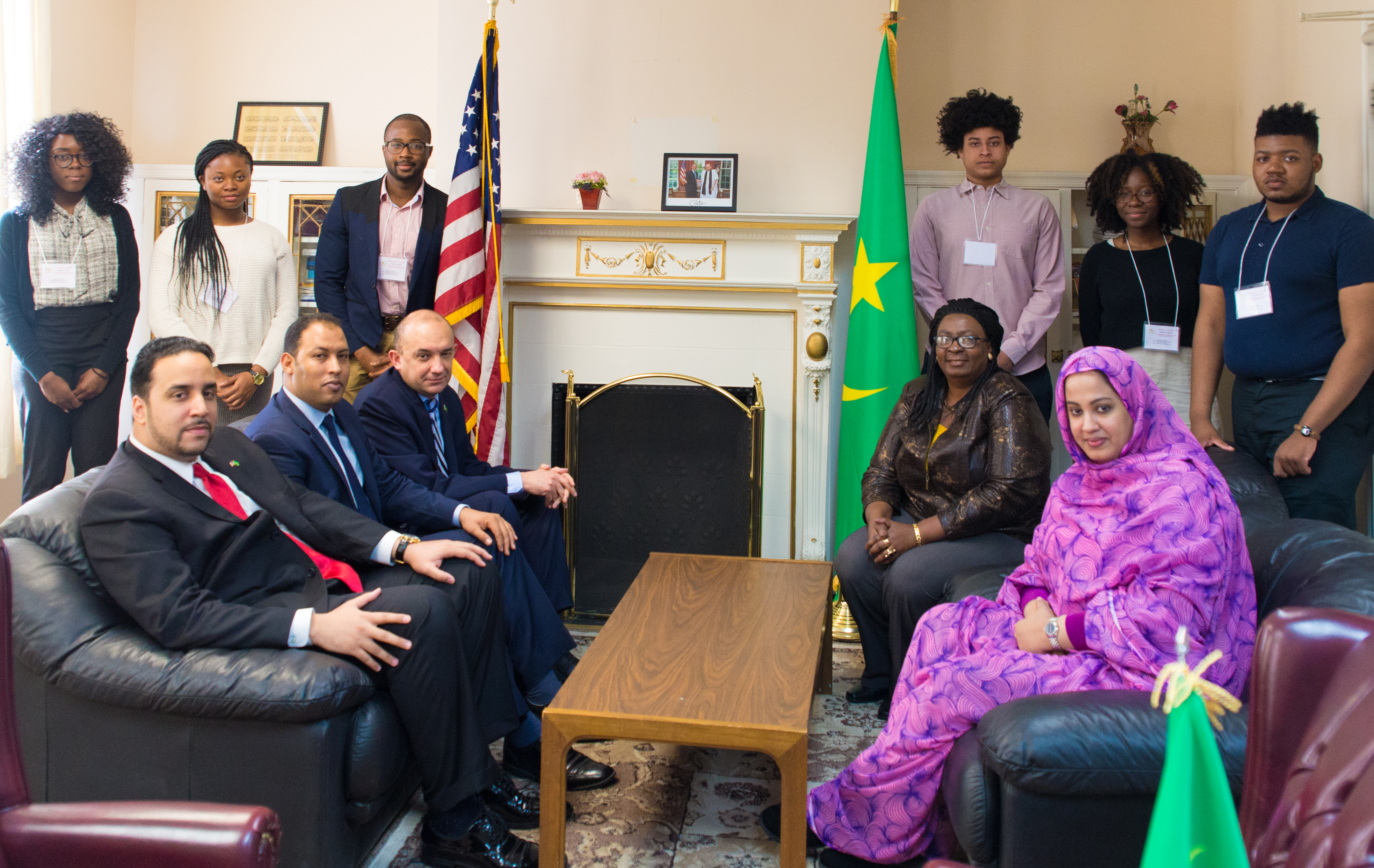 2017 UMBC MAU Delegation with the Mauritanian Ambassador and his Staff